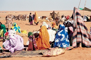 Refugee camp in Sudan. (USAID)